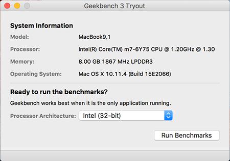 GeekBench3のベンチマーク